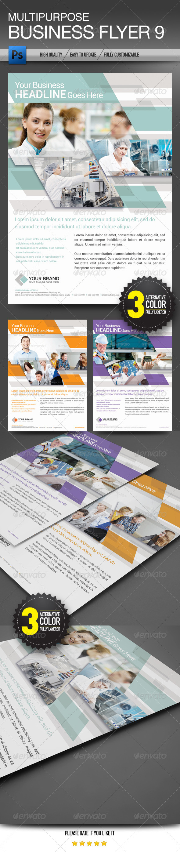 GraphicRiver Multipurpose Business Flyer 9 7055940