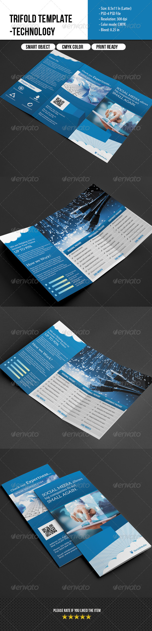 GraphicRiver Trifold Template- Social Media Marketing 7056052