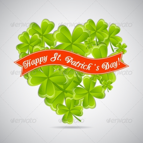 GraphicRiver Clovers Greeting Card 7056060