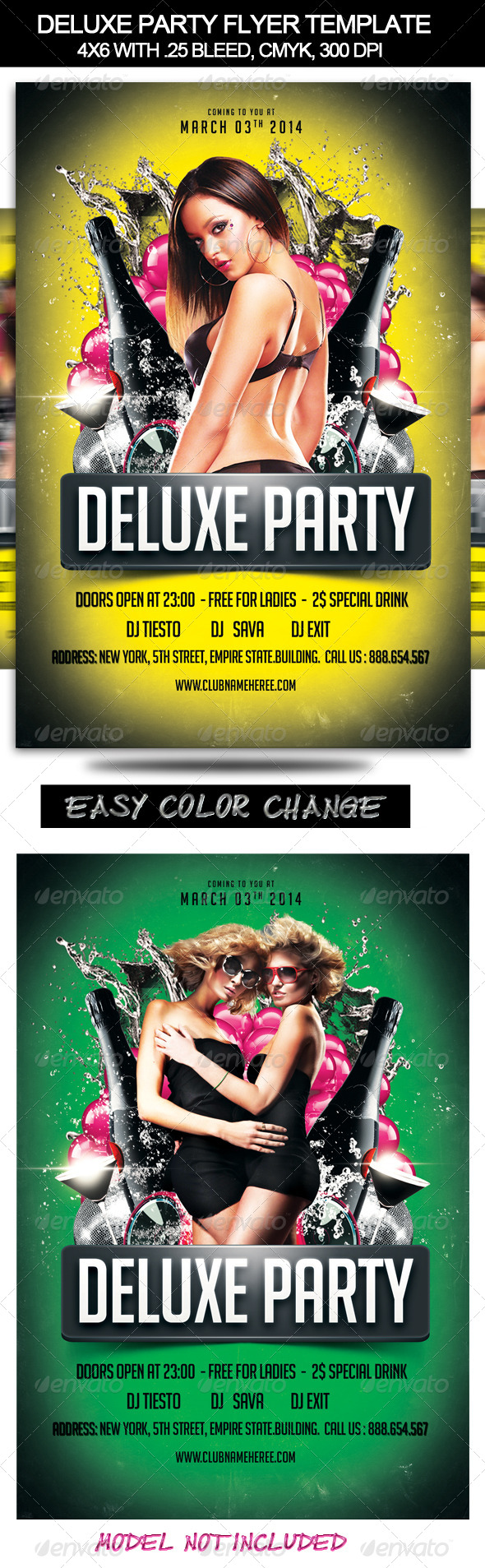 GraphicRiver Deluxe Party Flyer Template 7038953