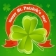 Greeting Card Patrick's Day with Clover? - GraphicRiver Item for Sale