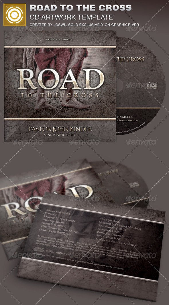 Road to the Cross Church CD Artwork Template