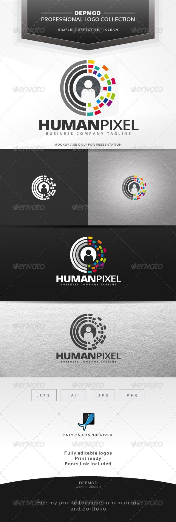 GraphicRiver Human Pixel Logo 7056932