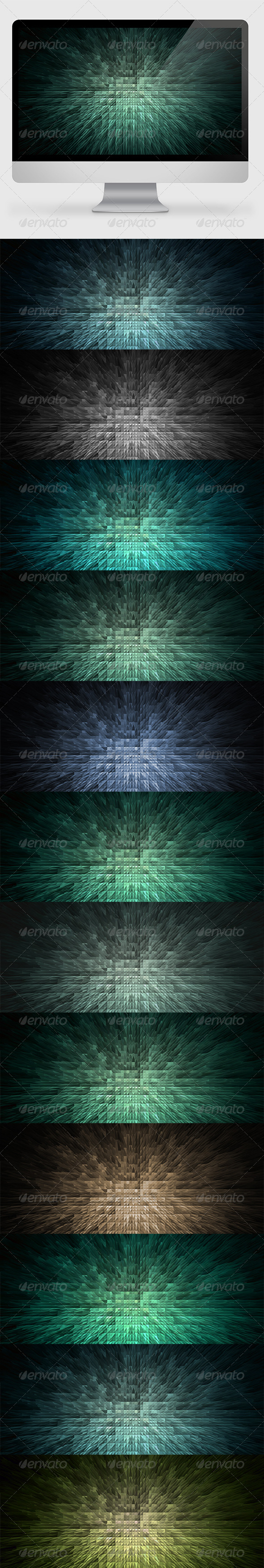 GraphicRiver Pyramids Backgrounds Wallpapers 7057263