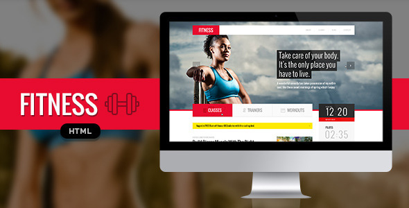 ThemeForest Fitness Responsive HTML Template 7036775