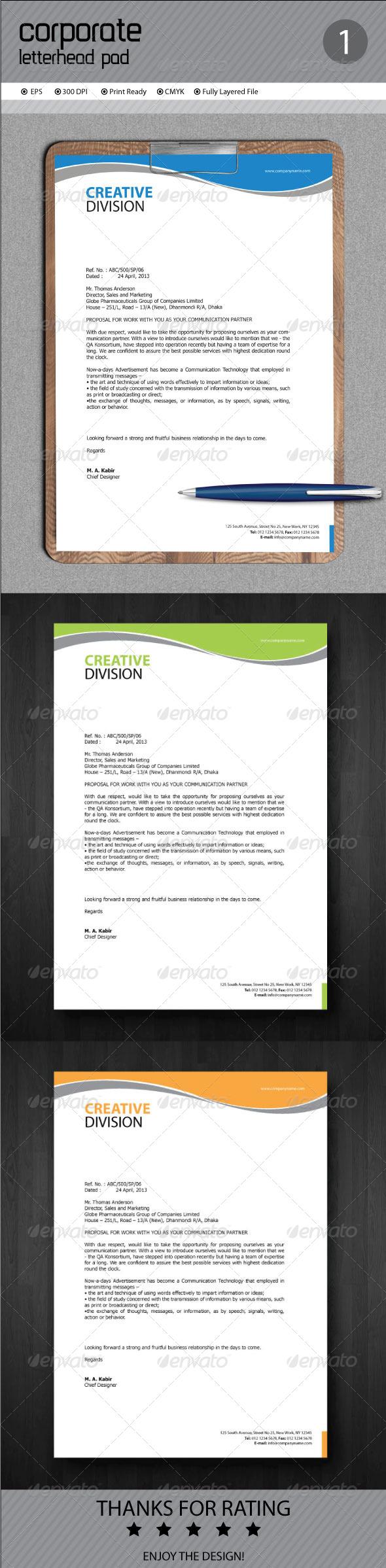 GraphicRiver Corporate Letterhead 7014253