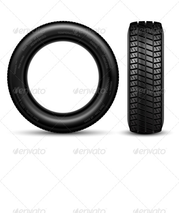 GraphicRiver Black Tire 7057783