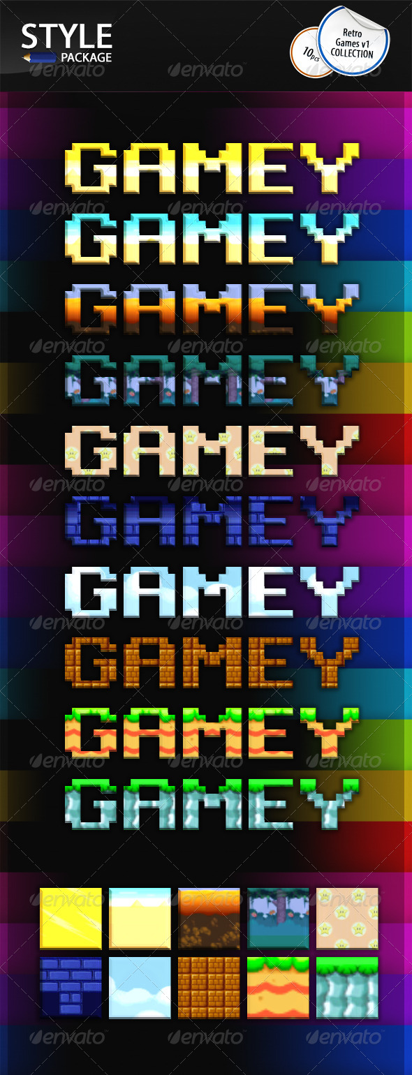 GraphicRiver Retro Game Styles v1 7057819