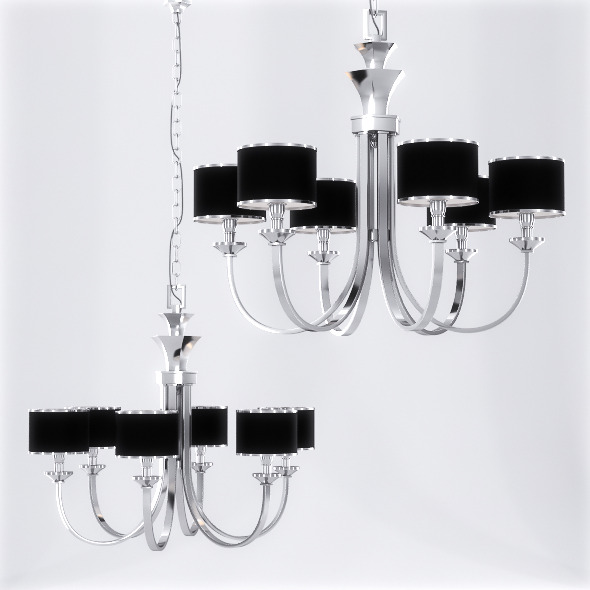 Uttermost Tuxedo Chandelier - 3DOcean Item for Sale
