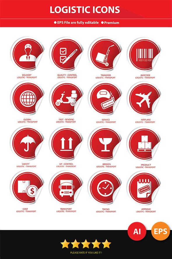 GraphicRiver Logistics Label Icons 7057941
