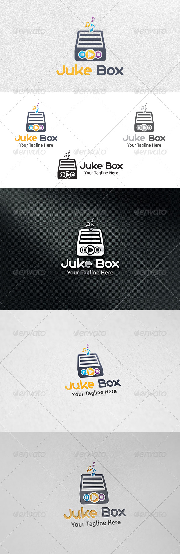 GraphicRiver Juke Box Logo Template 7058013