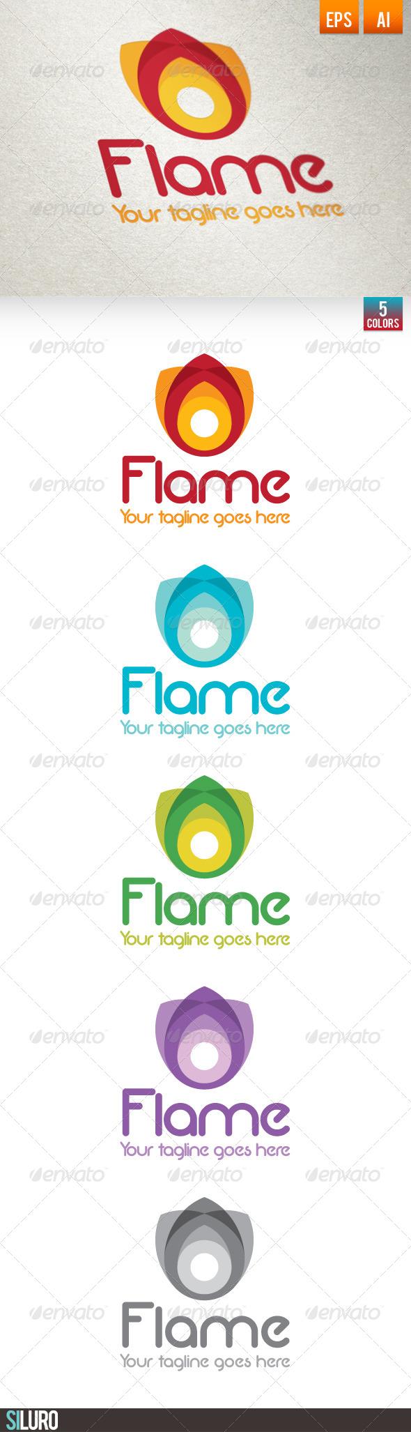 GraphicRiver Flame Multicolor Logo 7058071