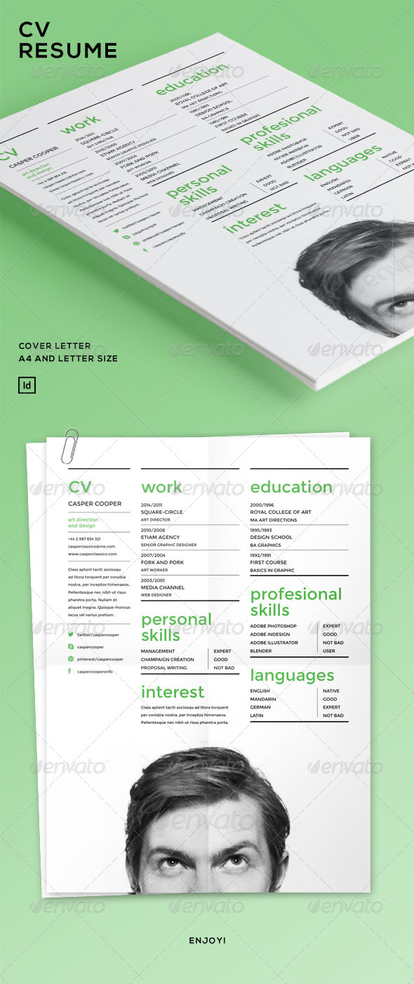 GraphicRiver CV Resume 7058106