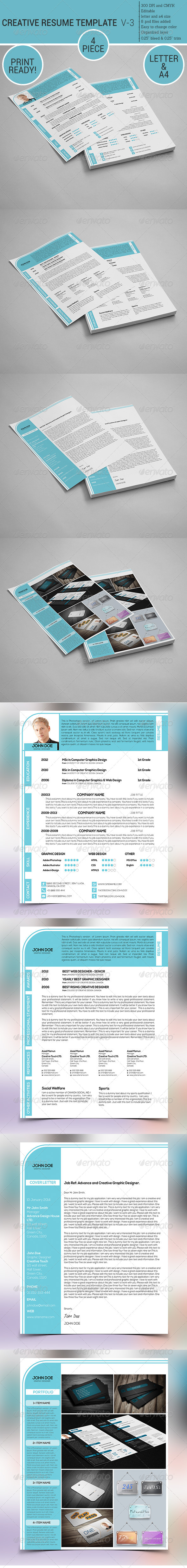 GraphicRiver Professional Resume Template V-3 7041078