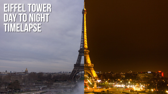 Eiffel Tower Day to Night
