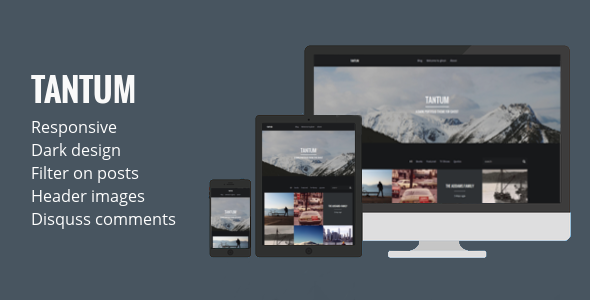 ThemeForest Tantum Dark Portfolio Theme for Ghost 7036245