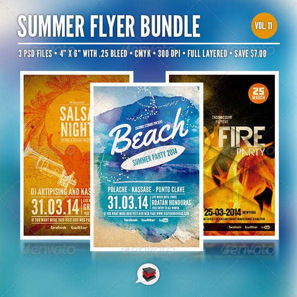 GraphicRiver Summer Party Bundle Vol 11 7059186