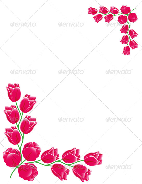 GraphicRiver Red Tulips Frame Card 7059597