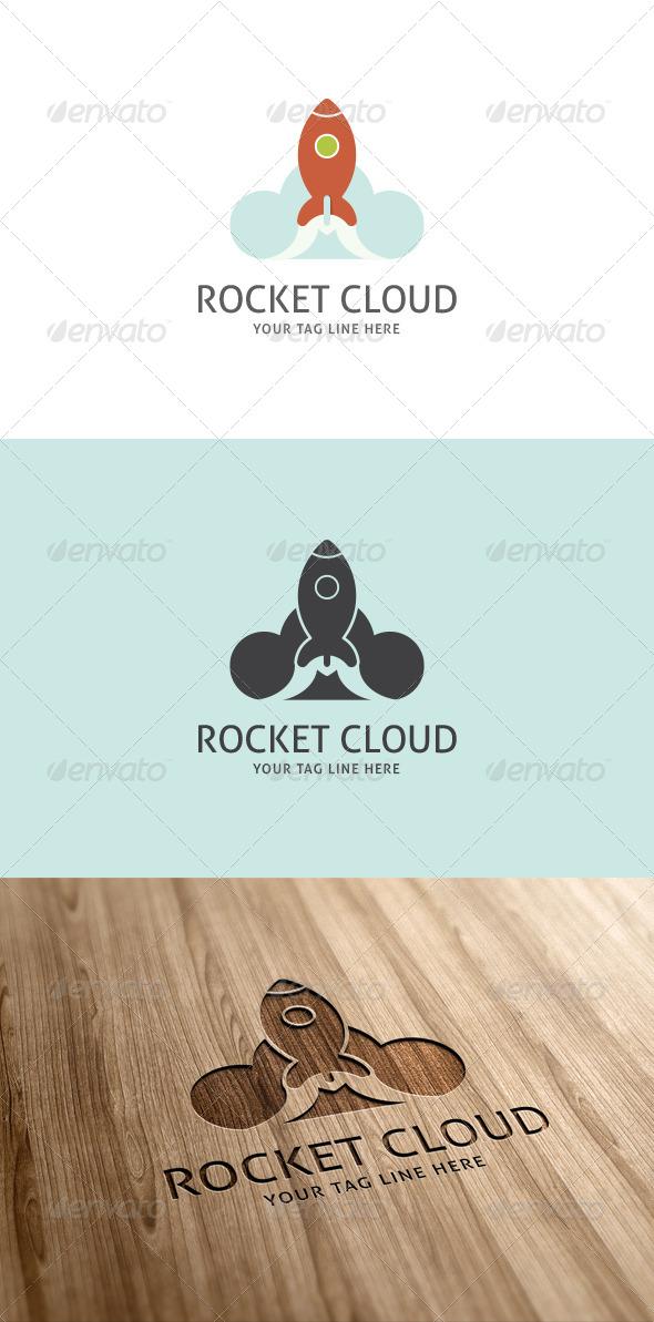 GraphicRiver Rocket Cloud Logo Template 7059598