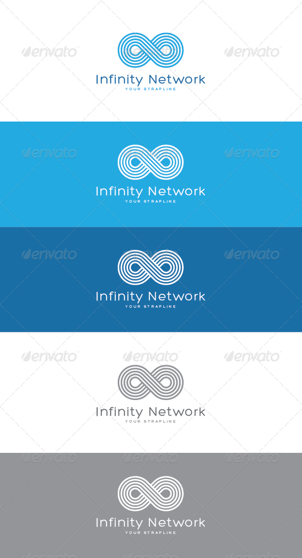GraphicRiver Infinity Network Logo 7059618