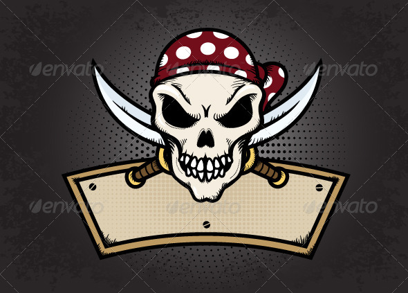 GraphicRiver Pirate Skull 7059655