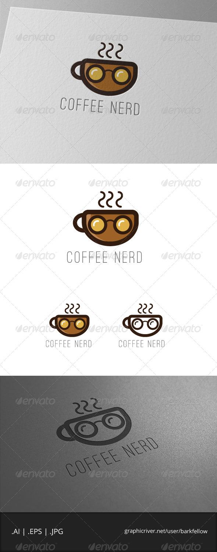 GraphicRiver Coffee Nerd Logo Template 7059770