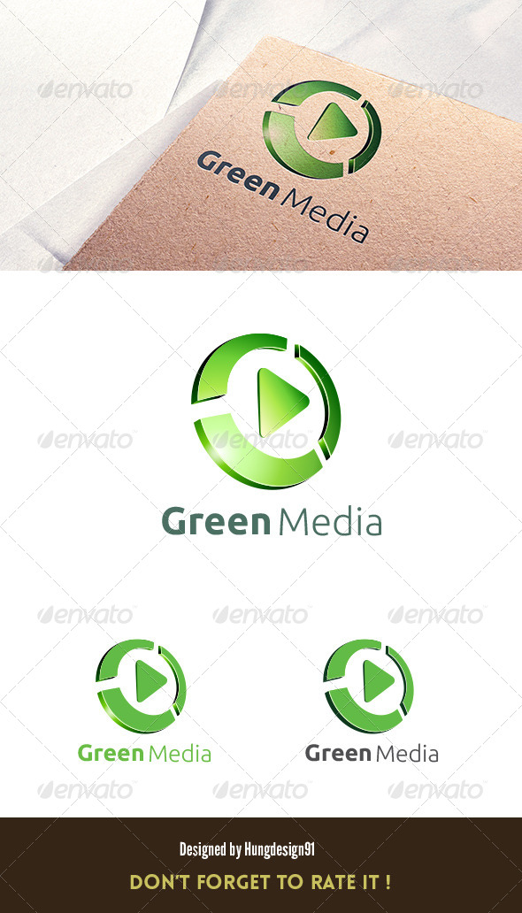 GraphicRiver Green Media Logo 3D Template 7041199