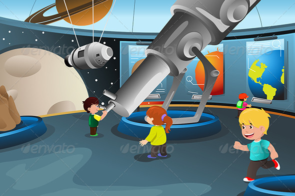 GraphicRiver Kids on a Field Trip to a Planetarium 7060769