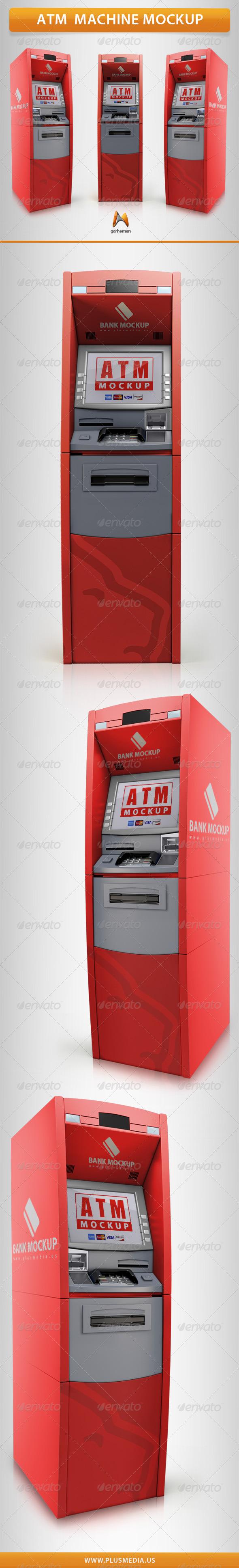 GraphicRiver ATM Machine Mockup 7060848