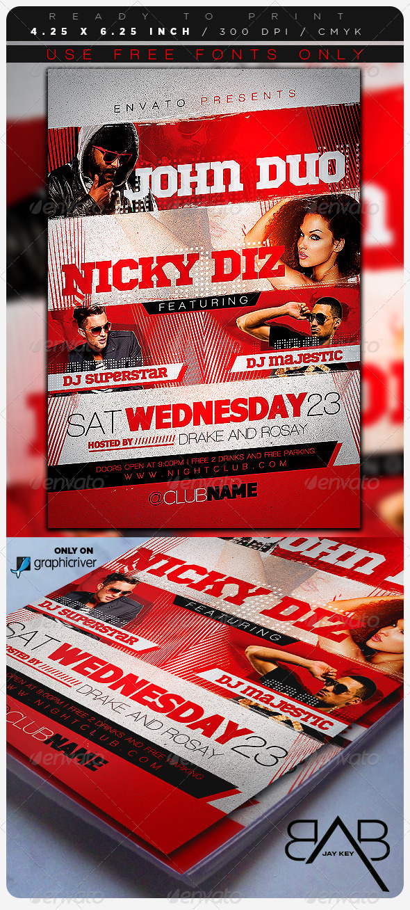 GraphicRiver Music Event Party Flyer 7060910
