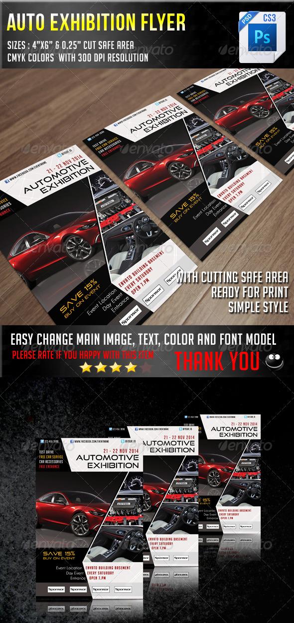 GraphicRiver Auto Exhibition Flyer V6 6984316