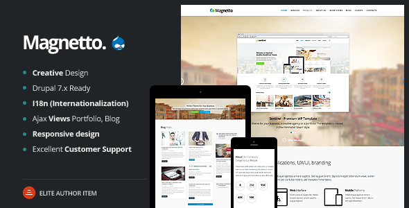Magnetto - Responsive Drupal Theme