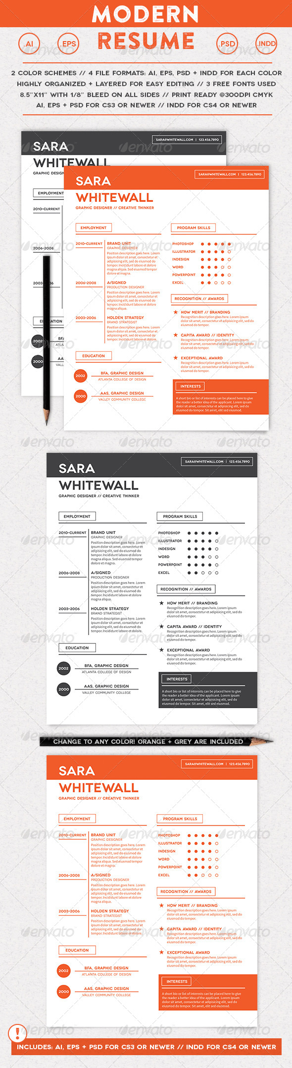 GraphicRiver Modern Resume 7061100