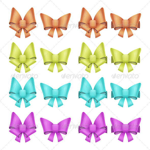 GraphicRiver Set of Bows 7061109