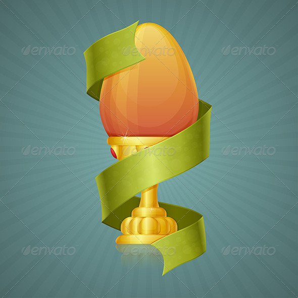 GraphicRiver Egg Cup with Ribbon 7061111