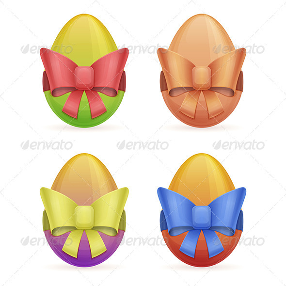 GraphicRiver Egg with Bow 7061114