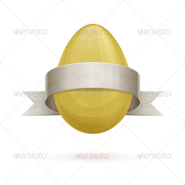 GraphicRiver Egg with Ribbon 7061117