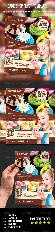 GraphicRiver Cake Shop Flyer 7040253