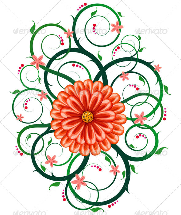 GraphicRiver Floral Ornament 7061216
