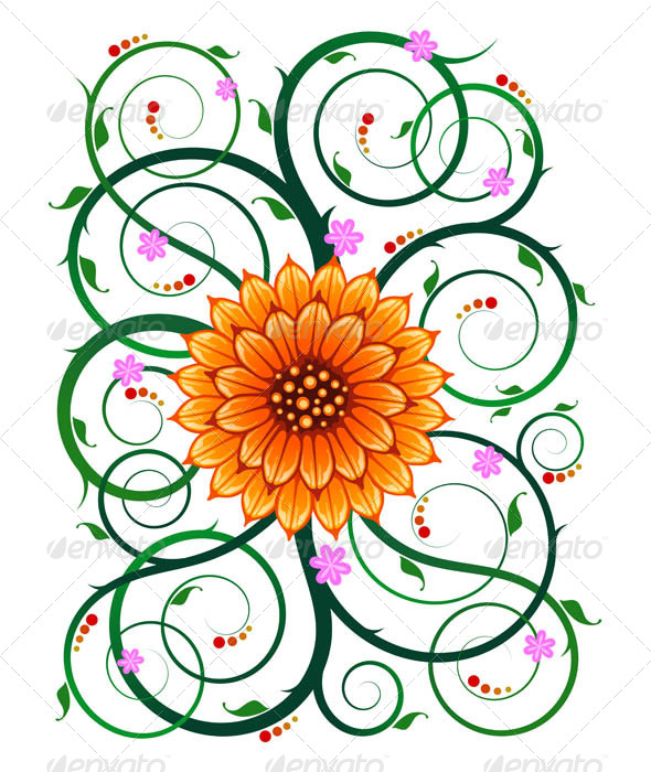 GraphicRiver Floral Ornament 7061219