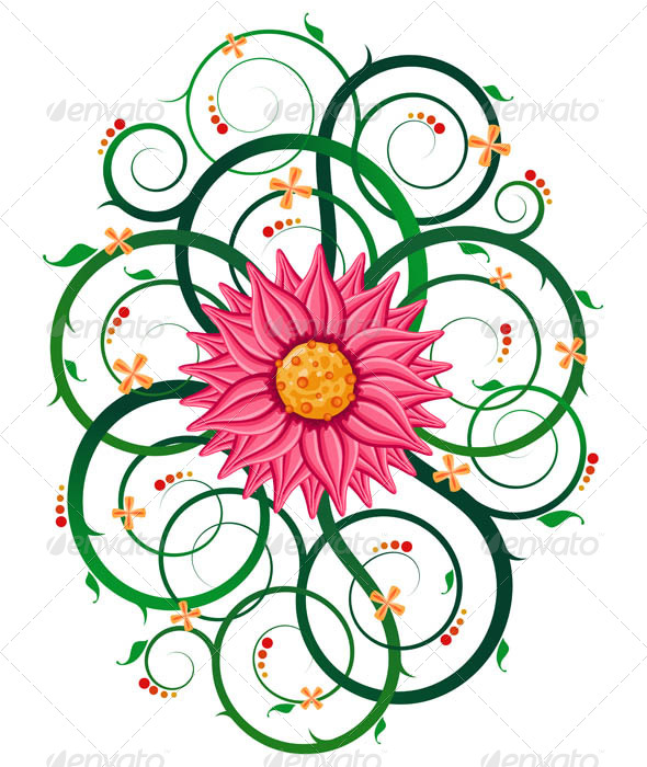 GraphicRiver Floral Ornament 7061267