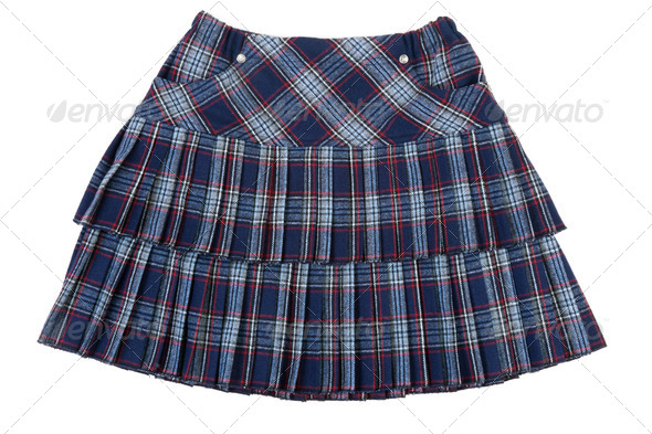 Plaid feminine skirt - Stock Photo - Images