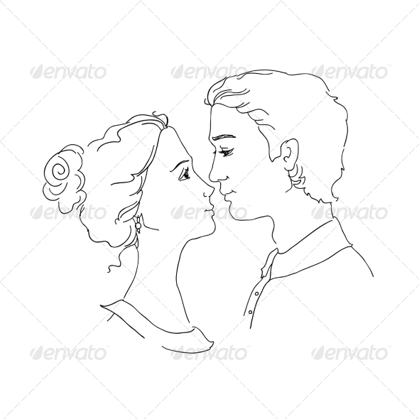GraphicRiver Sketch of Loving Couple 7061870