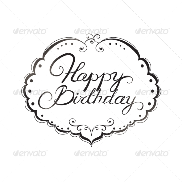 GraphicRiver Happy Birthday Lettering 7061960