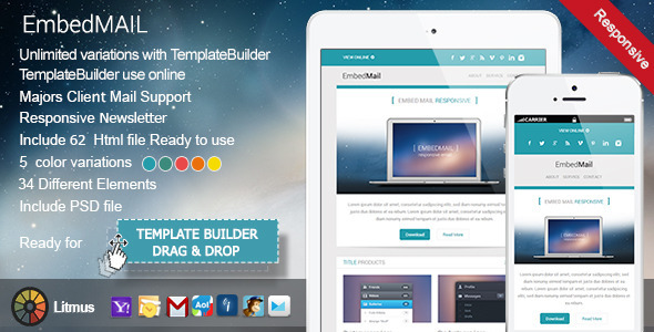 ThemeForest EmbedMail Responsive E-mail Template 7041113