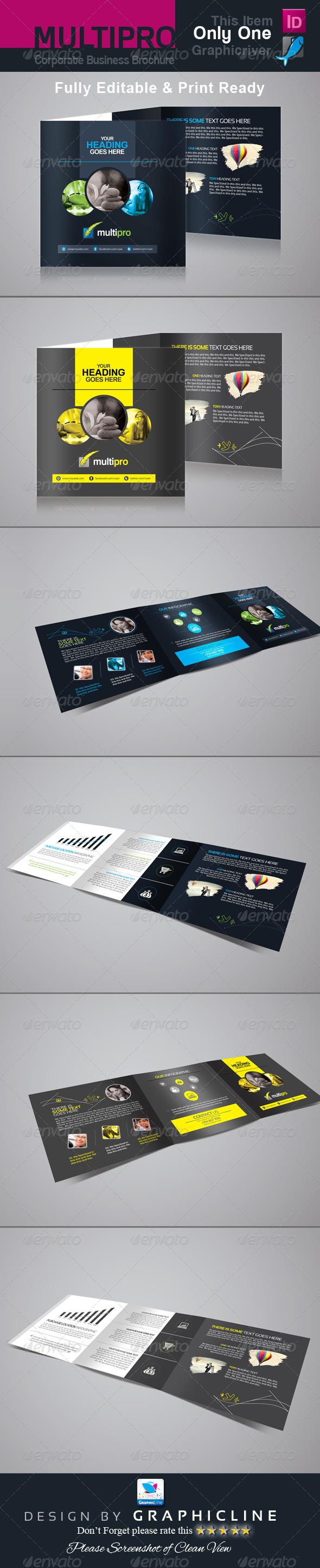 GraphicRiver Multi Pro Corporate Tri-Fold Business Brochure 7062430