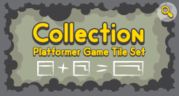 Collection Platformer Game Tile Set