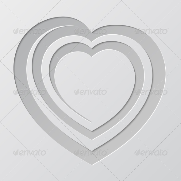 GraphicRiver Spiral Heart Cut from Paper 7062756