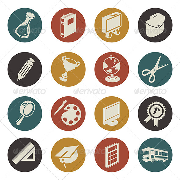 GraphicRiver Education Icons 7062775