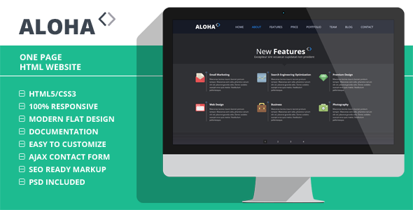 Aloha - Creative One Page Website